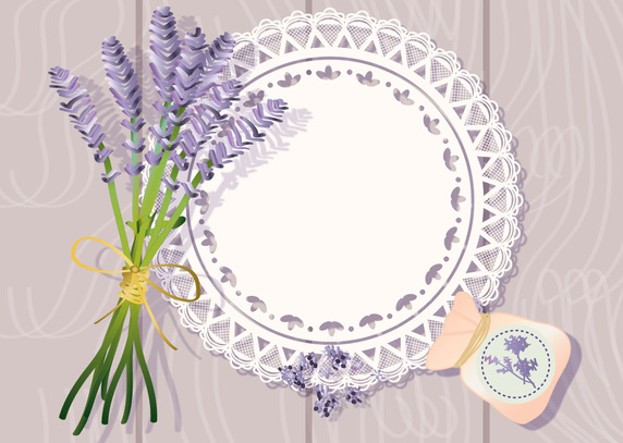 572x407 Doily With Lavender Background Vector Free Vector Download In