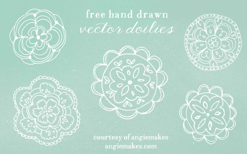 800x500 Free Lace Doily Vector