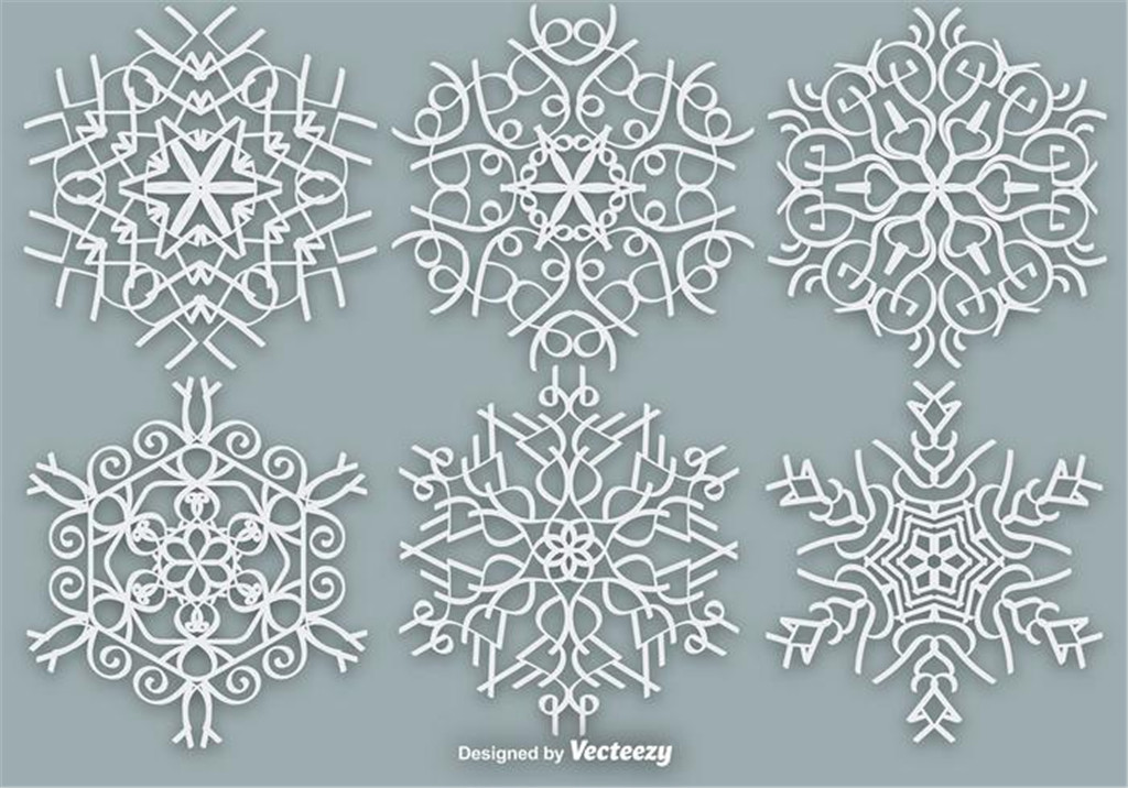 1024x716 Snowflake Vector Free Download Ai Files