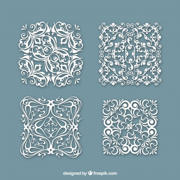 626x626 Vintage Square Doily Vector Free Download