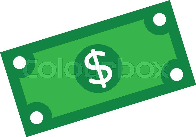 800x560 Vector Cartoon Dollar Bill Stock Vector Colourbox