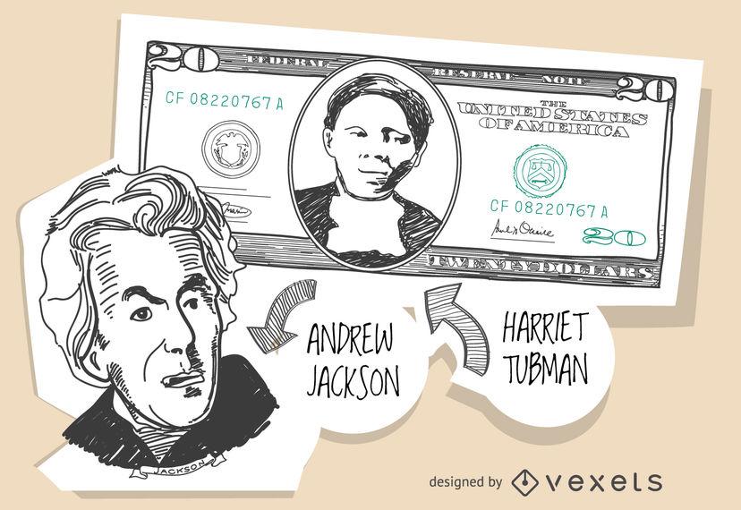 828x570 20 Dollar Bill With Harriet Tubman