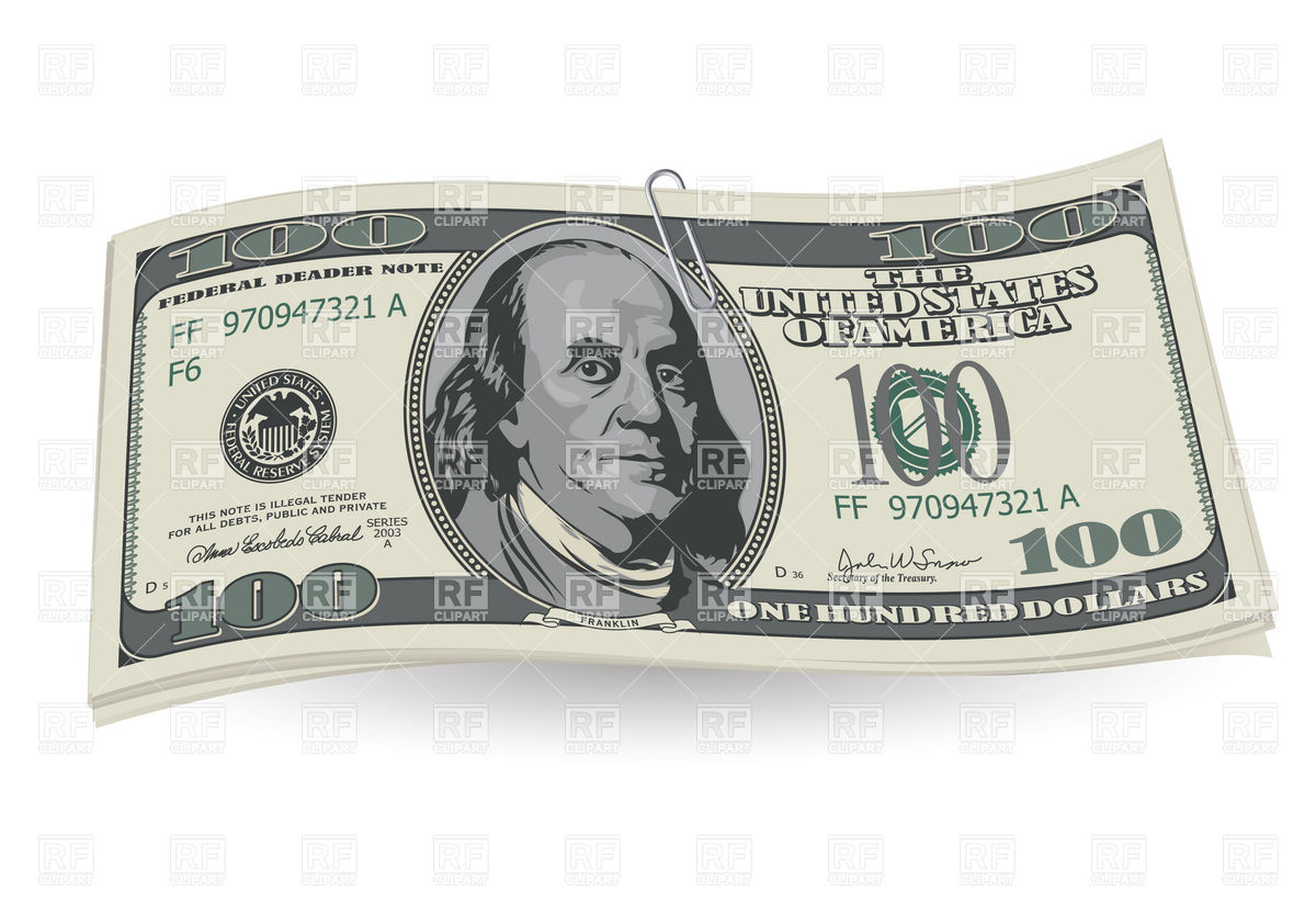 1200x822 Collection Of 100 Dollar Bills Clipart High Quality, Free