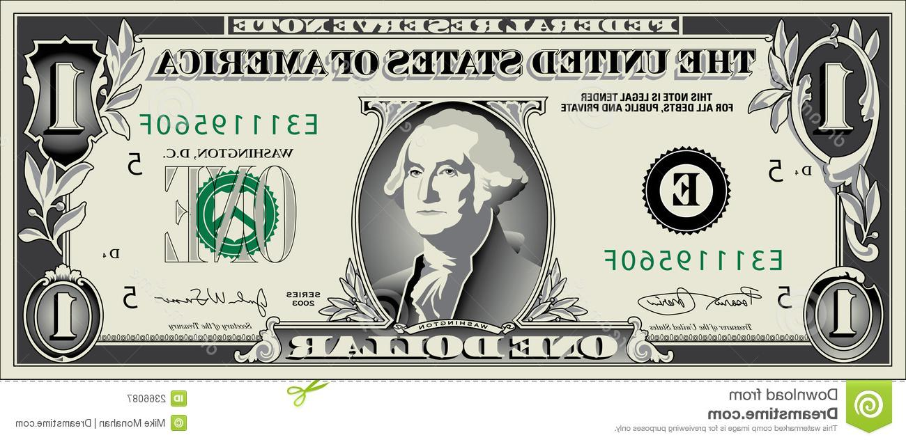 1300x635 Best Free Dollar Bills Vector Clipart Design