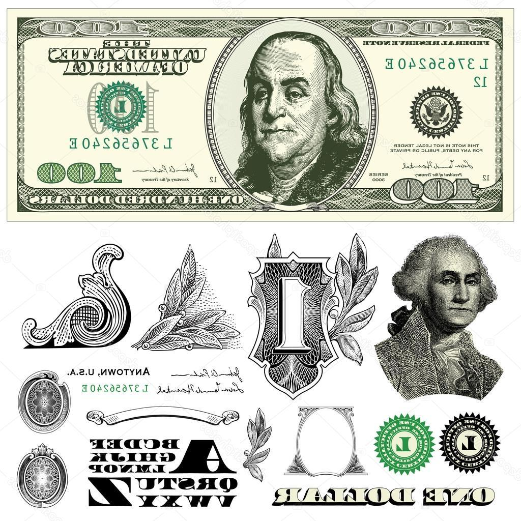 1024x1024 Best Free Stock Illustration Vector Dollar Bill Template Design