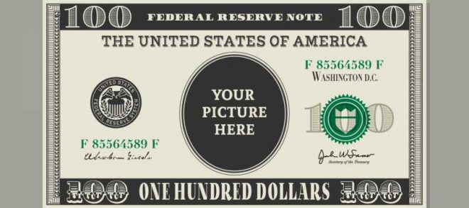 660x293 100 Dollar Bill Vector Template Download Free Vector Art, Stock