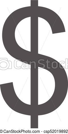 240x470 Dollar Icon Vector Simple. Dollar Icon. Simple Illustration Of