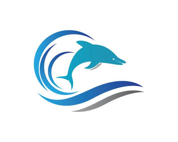 626x500 Dolphin Logo Icon Vector Vector Premium Download