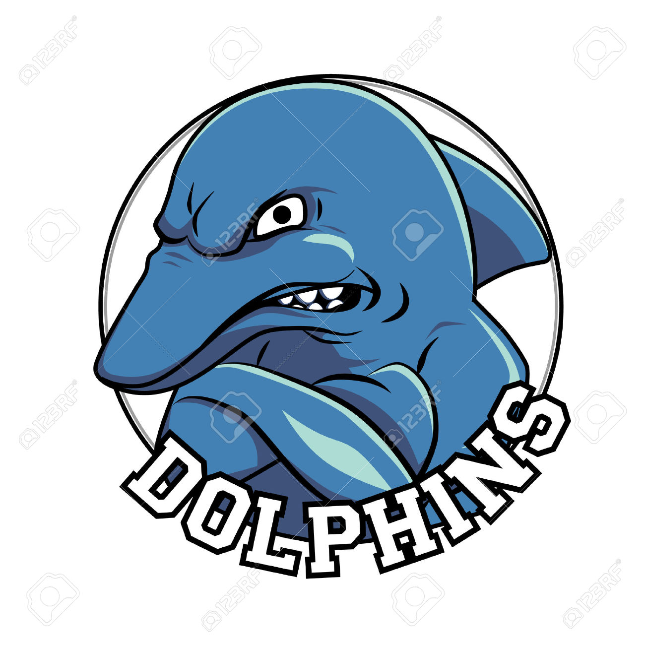 1300x1300 Collection Of Dolphin Mascot Clipart High Quality, Free