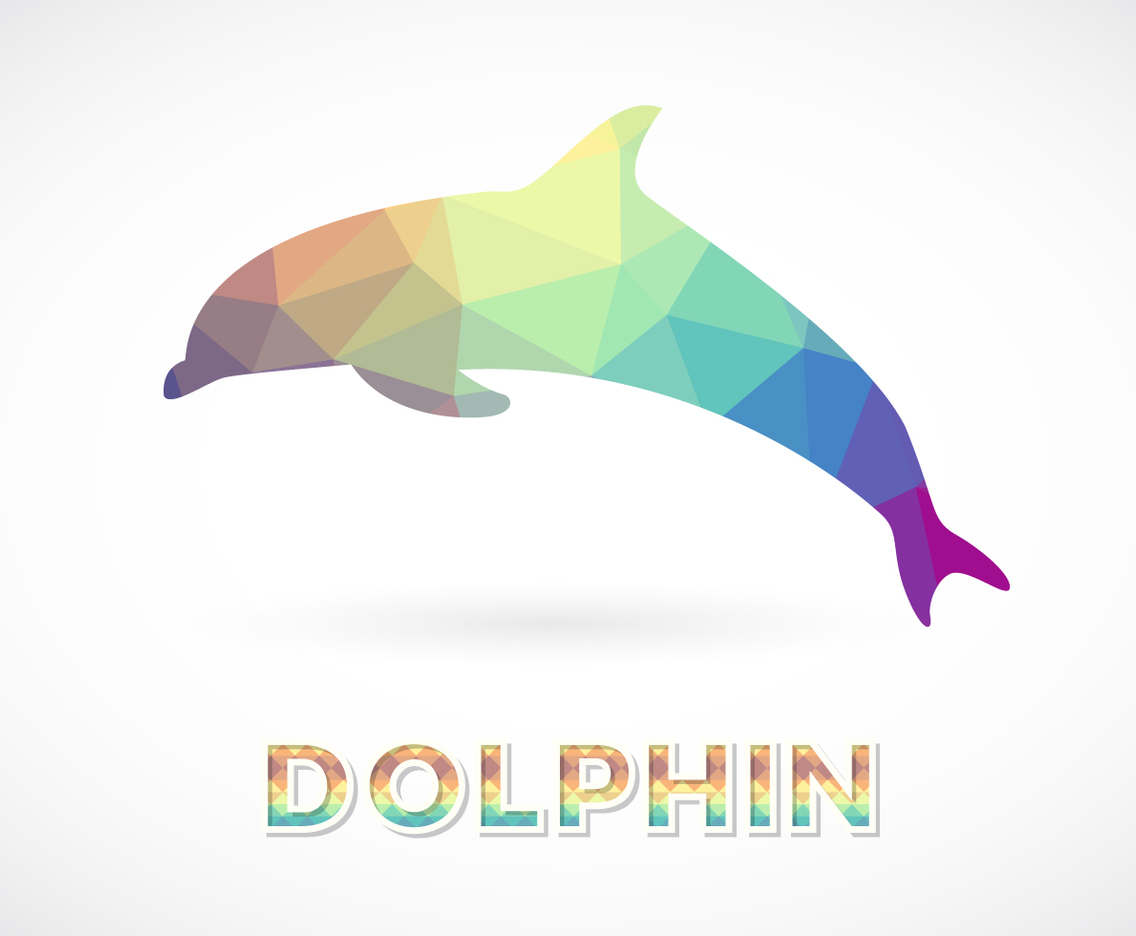 1136x936 Polygon Dolphin Vector Art Amp Graphics