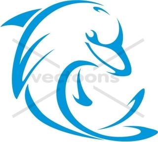 320x289 Blue Dolphin Outline Logo