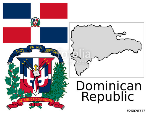 Dominican Republic Flag Vector at GetDrawings.com | Free for ... on