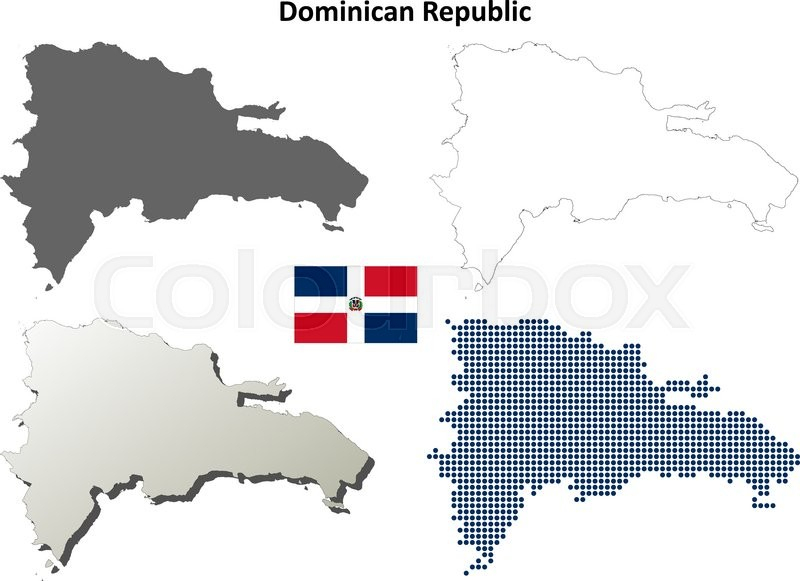 800x581 Blank Map Of Dominican Republic Dominican Republic Blank Detailed