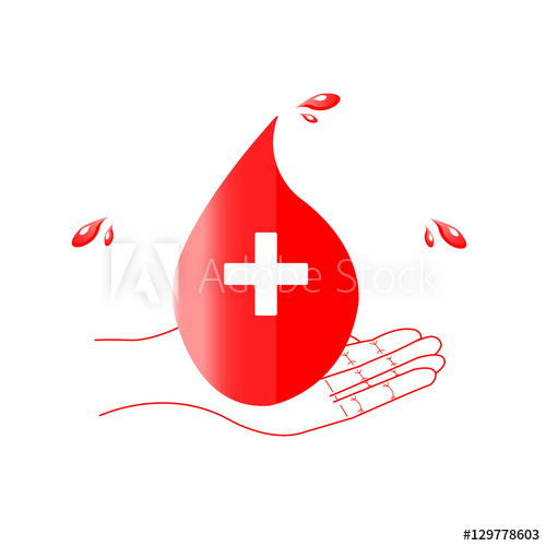 500x500 Give Blood Save Live. World Blood Donor Day .vector Illustration