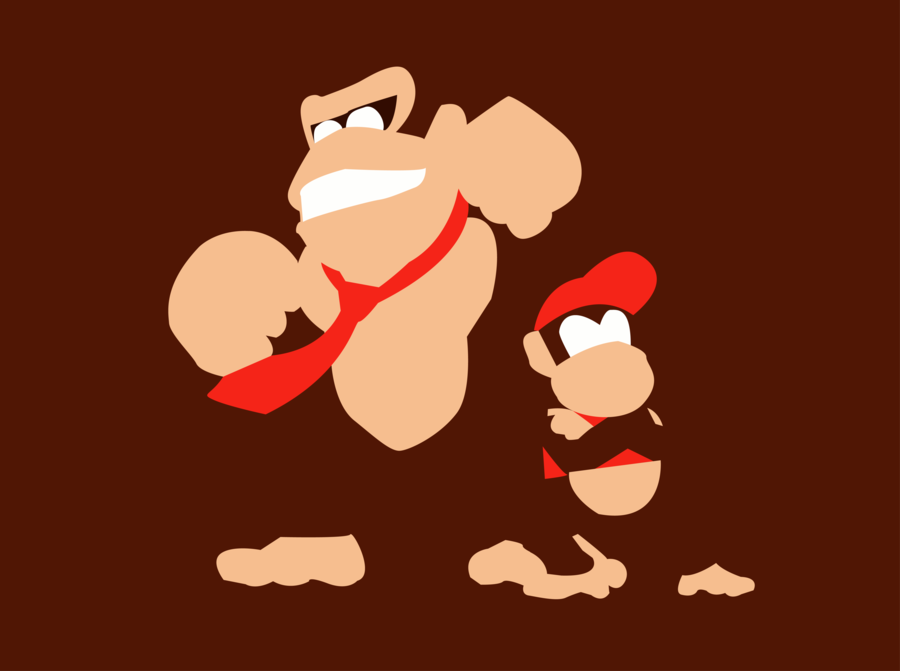 900x671 Donkey Kong And Diddy Kong By Dragonfang42