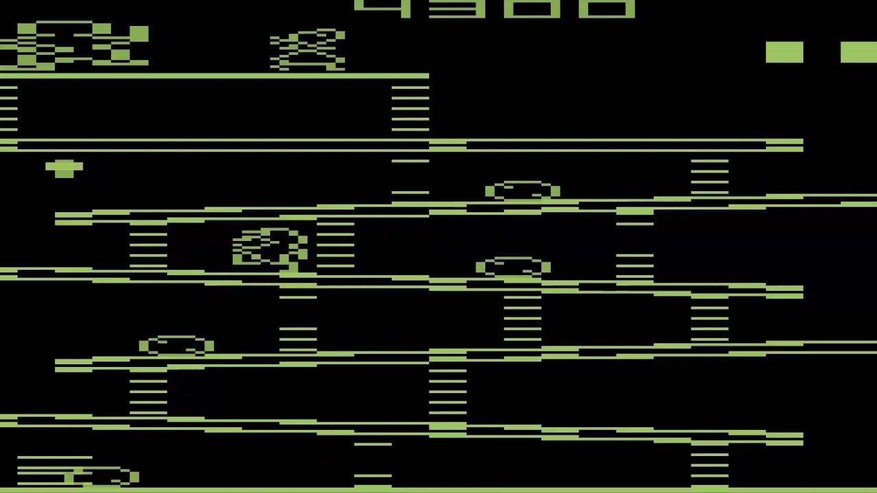 1280x720 Atari 2600 Dk Vector Green Like Amber Monitor Final Donkey Kong