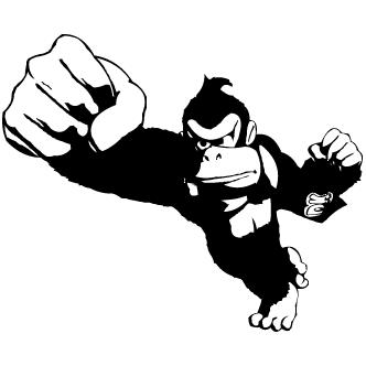 332x332 Vector De Donkey Kong