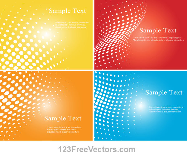 600x500 Free Halftone Dot Colorful Background Vector Illustrator Psd Files