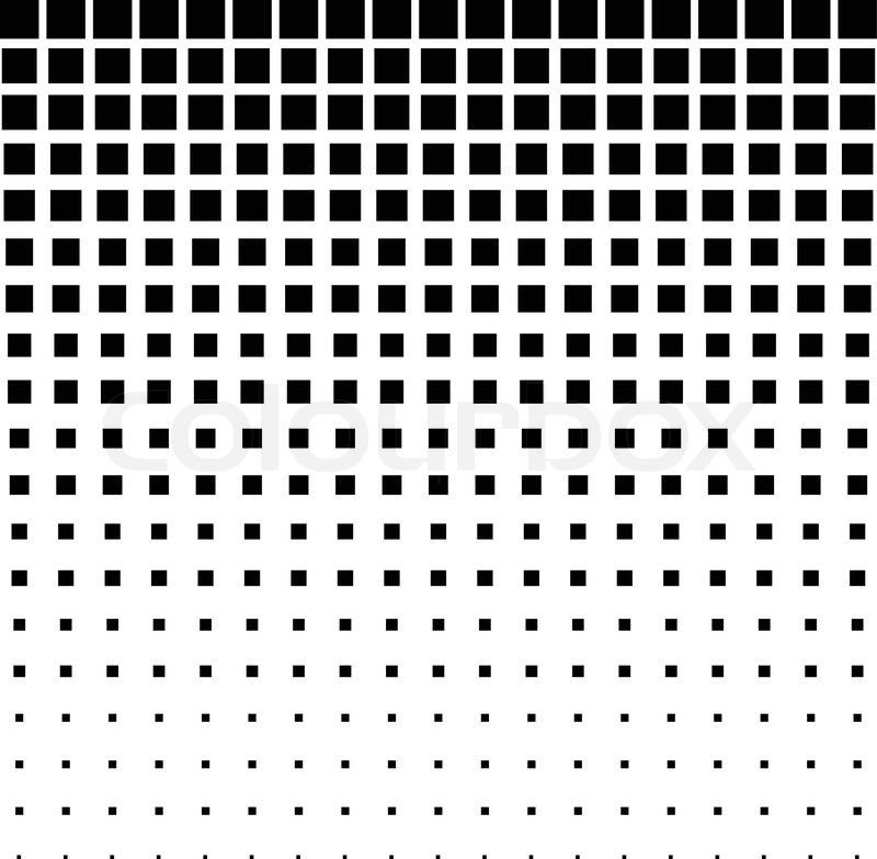 800x783 Black Abstract Halftone Square Dot Background, Vector Illustration