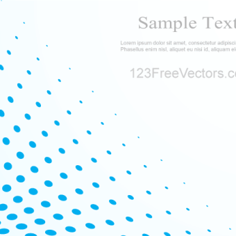 340x340 Vector Abstract Blue Background Illustration With Halftone Dots