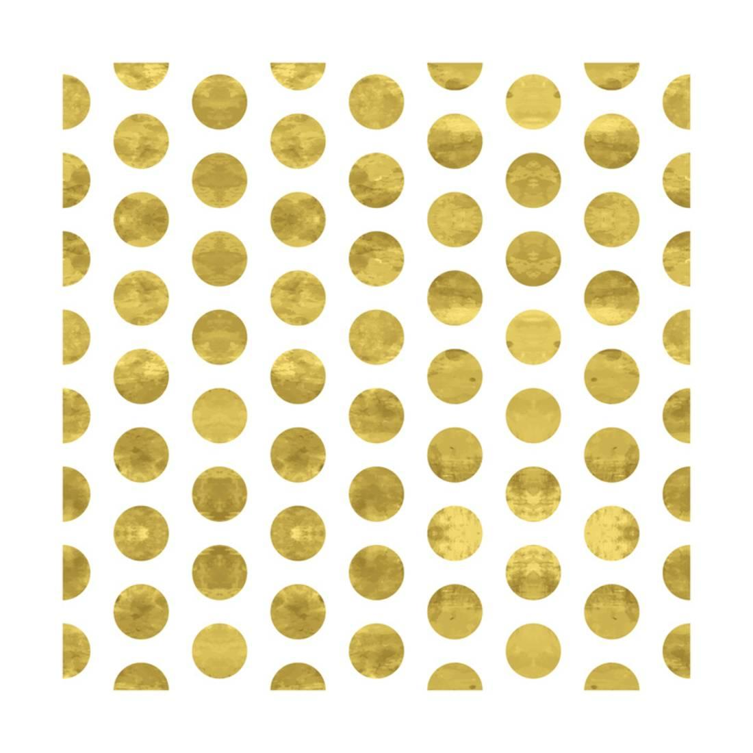 1100x1100 White And Gold Pattern. Abstract Geometric Modern Polka Dot