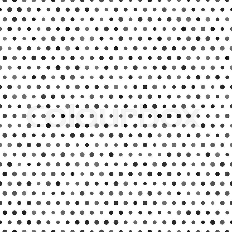 800x800 Black And White Seamless Pattern With Black Dots Isolated On White