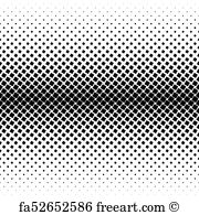 180x195 Free Art Print Of Halftone Square Dot Vector Texture. Halftone