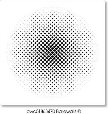 362x382 Art Print Of Halftone Square Dot Vector Texture. Halftone Pattern