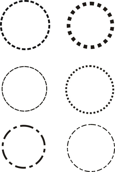401x600 Dotted Line Circle Vector Free Vector In Coreldraw Cdr ( .cdr