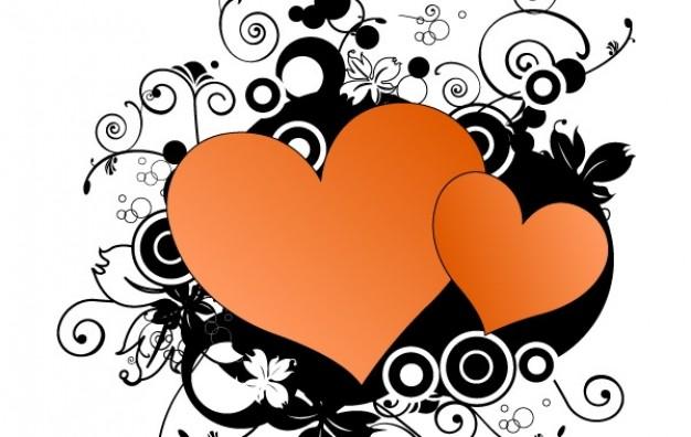 626x396 Double Heart Vector Vector Free Download