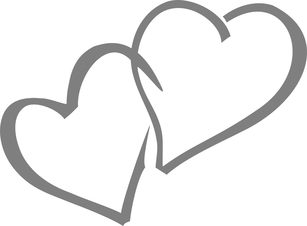 1280x944 Double Heart Vector Black And White Download Wedding