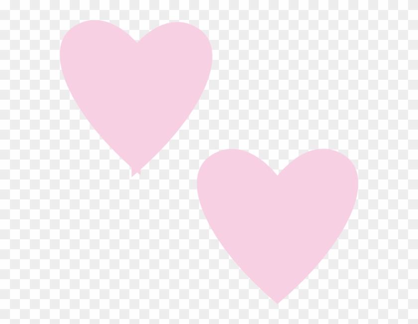 840x650 Light Pink Double Hearts Clip Art At Clker Com Vector