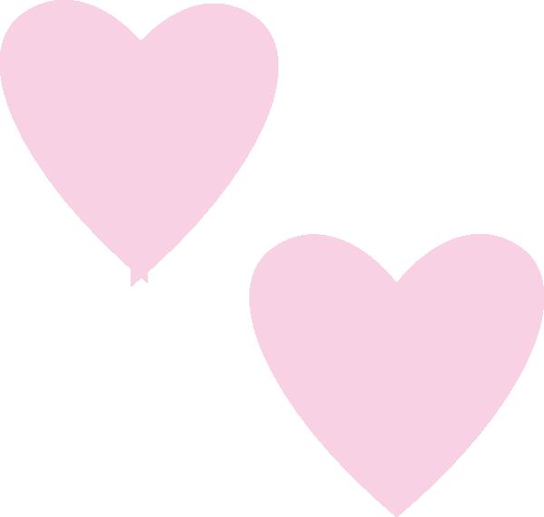 600x570 Light Pink Double Hearts Clip Art