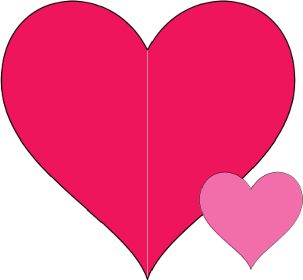 600x556 Pictures Of Pink Double Heart Clipart