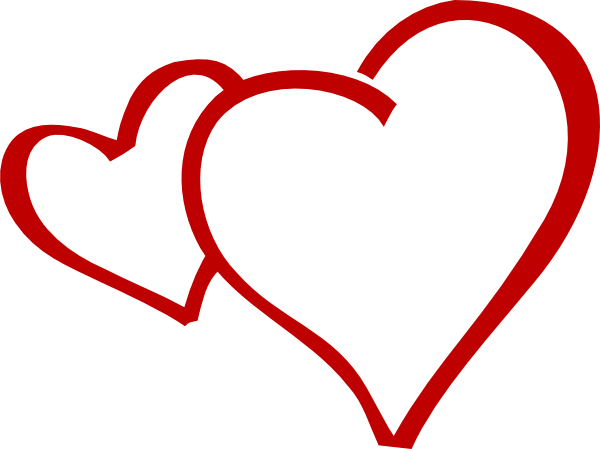 600x449 Red Clipart Two Heart ~ Frames ~ Illustrations ~ Hd Images ~ Photo