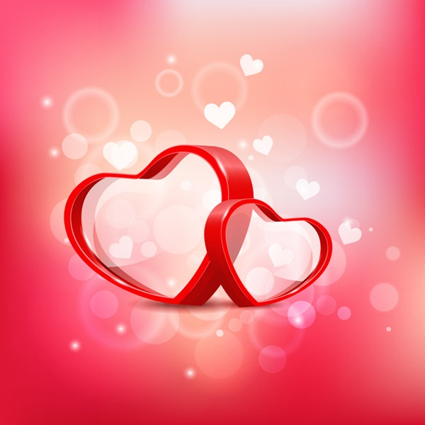 600x600 Three Dimensional Red Double Heart Vector Graphics My Free