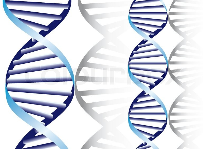 800x566 Double Dna Helix, Biochemical Abstract Background Stock Vector