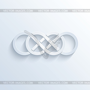 300x300 Double Infinity Sign With Shadow