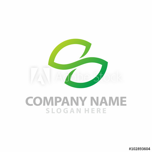 500x500 Intial S Double Leaf Infinity Icon Logo