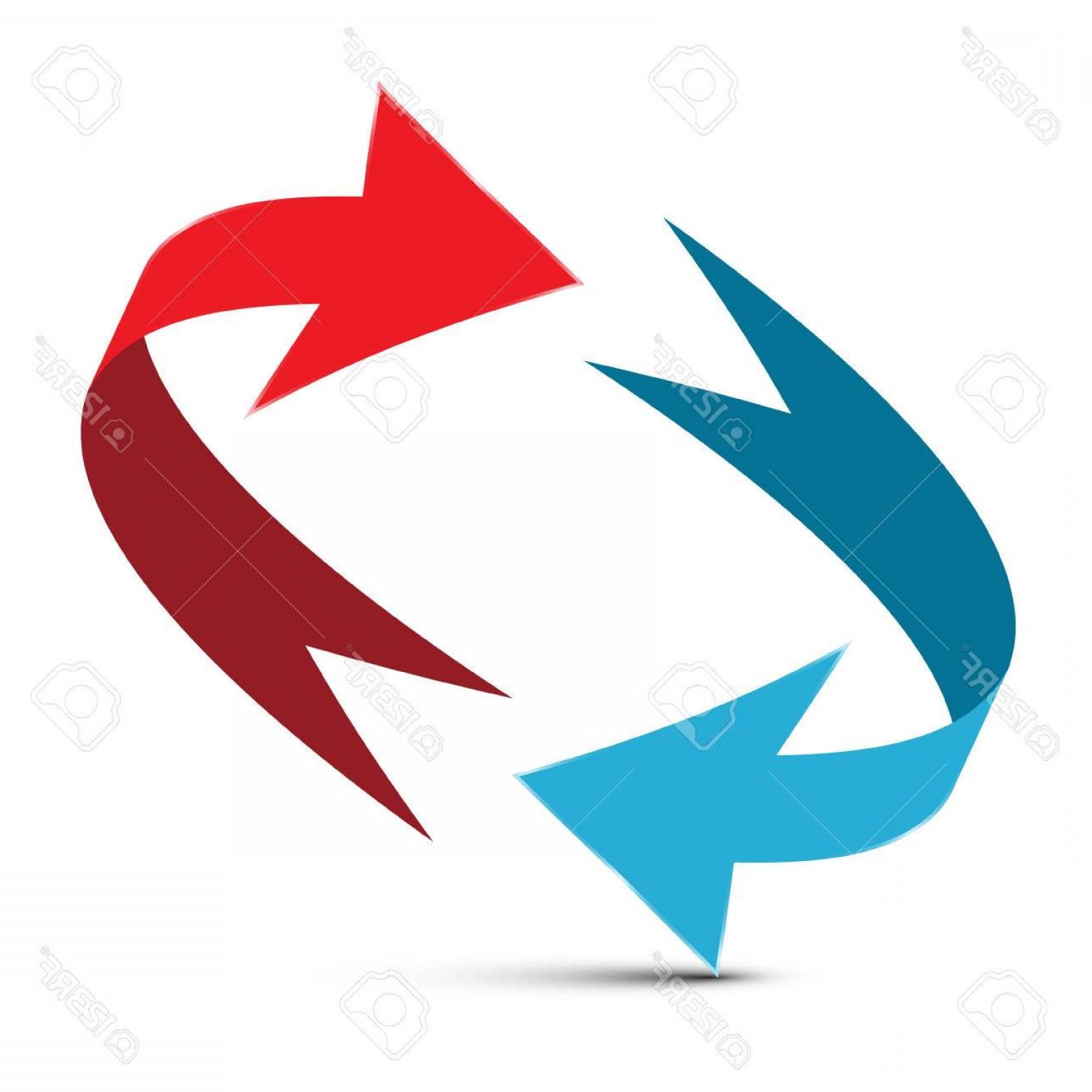 1560x1560 Photostock Vector Arrows Illustration Red And Blue Double Arrow