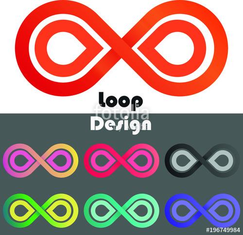 500x484 Set Of Vector Infinity Double Loop Design In Gradient Colors