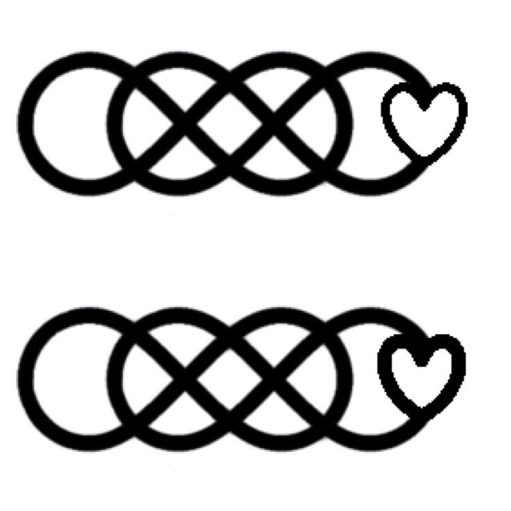 736x736 Double Infinity With Heart Tattoo Ideas Double