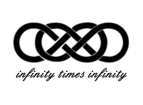 500x369 Infinity Times Infinity Double Infinity Symbol Romantic Wall Decal