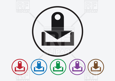 400x283 Download Icon And Upload Symbol Button Vector Image Vector