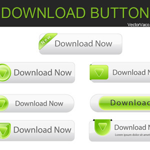 300x300 Free Vector Download Buttons