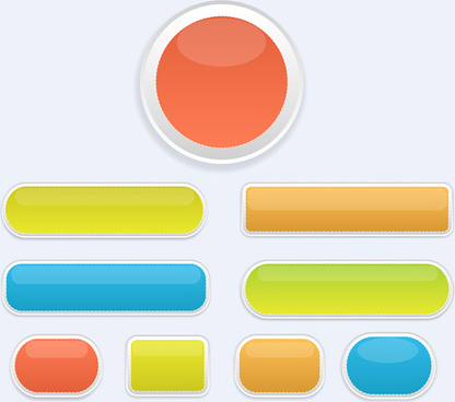 416x368 Free Vector Glossy Buttons Free Vector Download (3,064 Free Vector