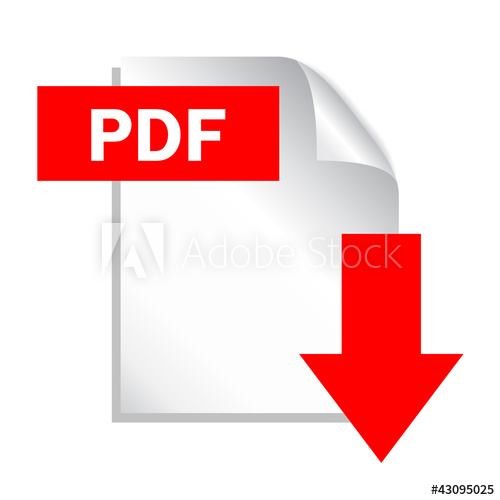 500x500 Pdf Download Button, Vector Illustration