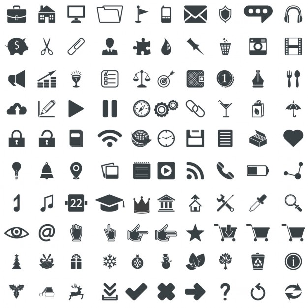 626x626 100 Universal Icons Vector Free Download