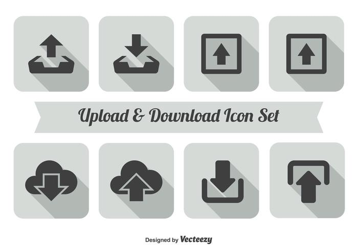 700x490 Upload And Download Icon Set