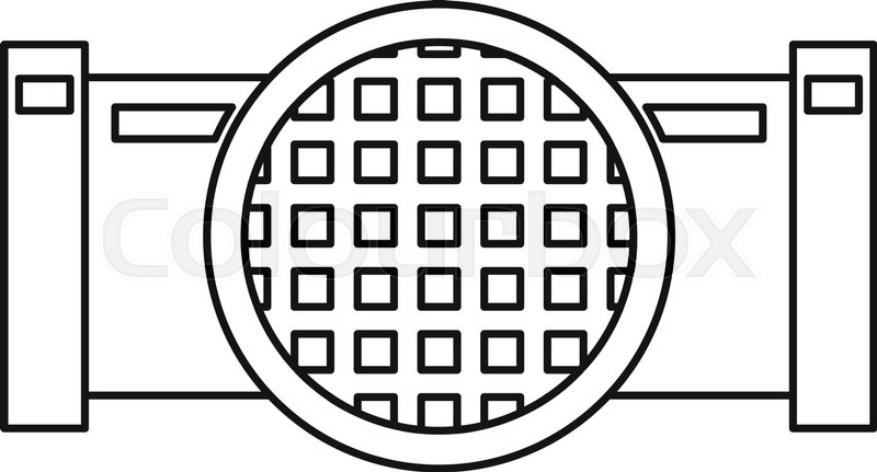 800x431 Drain System Icon. Outline Illustration Of Drain System Vector
